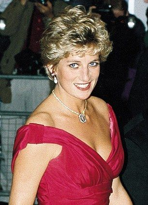 Divorce battle: Princess Diana at a London premiere in 1992