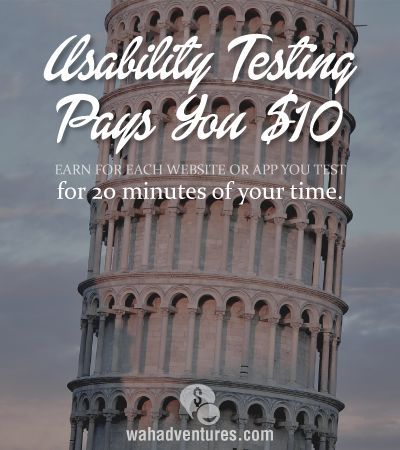 Earn $10 for 20 minutes of your time as a usability tester.