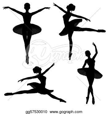 Drawing Ballet Dancer Silhouettes 1 Clipart Drawing