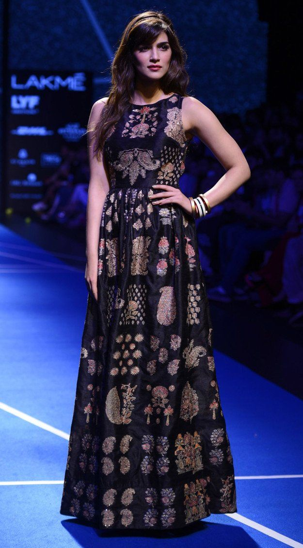 Indian actress Kriti Sanon for Label by designer Ritu Kumar