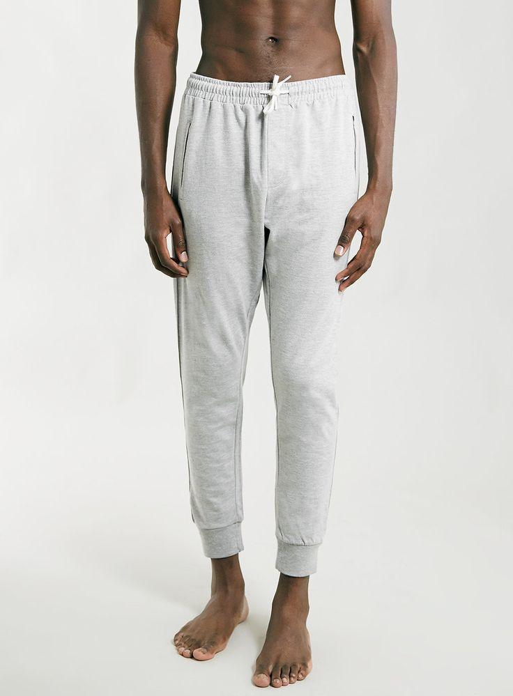 Pantalon de jogging gris clair chiné - Pyjamas et Tenues d'Intérieur Homme - Vêtements - TOPMAN FRANCE