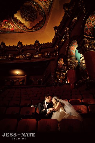 Vintage Glamour Wedding at Fox Theater Detroit.    I'm not one for the wedding stuff but this is just awesome. I could totally do a theatre wedding.