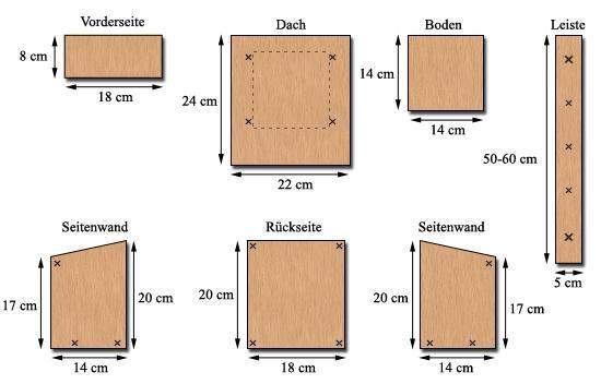 die besten 25 nistkasten bauanleitung ideen auf pinterest. Black Bedroom Furniture Sets. Home Design Ideas