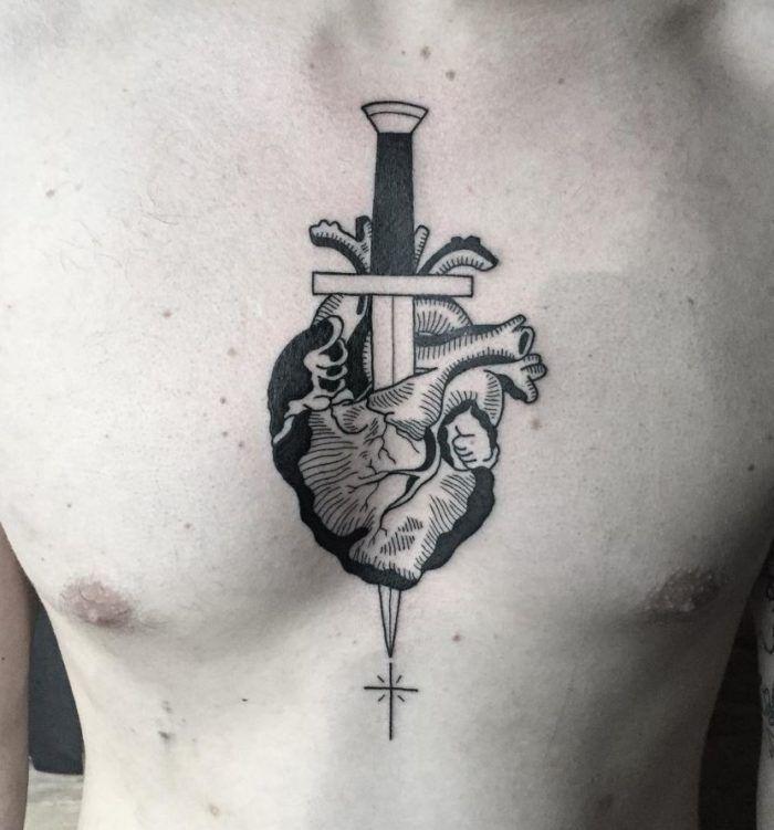 Aim for the Heart Tattoo