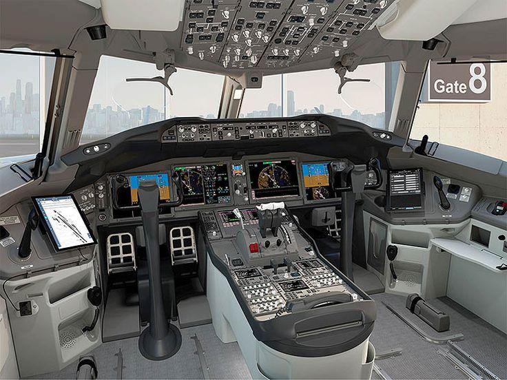 Boeing hefur birt fyrstu tölvugerðu myndirnar af flugstjórnarklefanum í Boeing 777-9, arftaka Boeing 777 þotunnar.