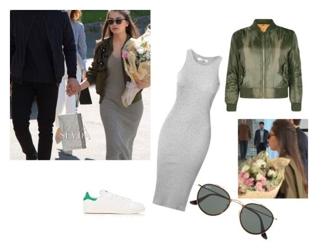 Karasevda neslihan atagul style by maysali on Polyvore featuring polyvore, fashion, style, Boohoo, adidas, Ray-Ban and clothing
