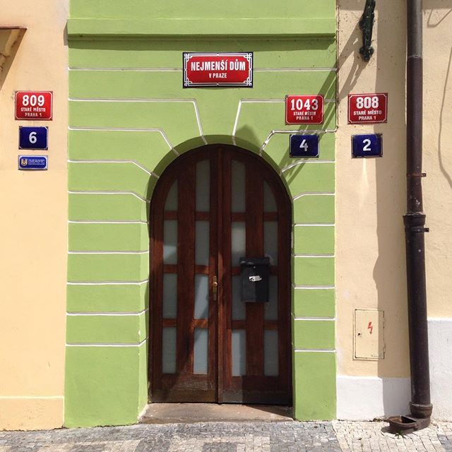 The smallest house in Prague #design #praha #prague #iprague #cz #czech #czechia #czechrepublic #česko #české #českárepublika #czechdesign #czdsgn #house #door #small #old #summer