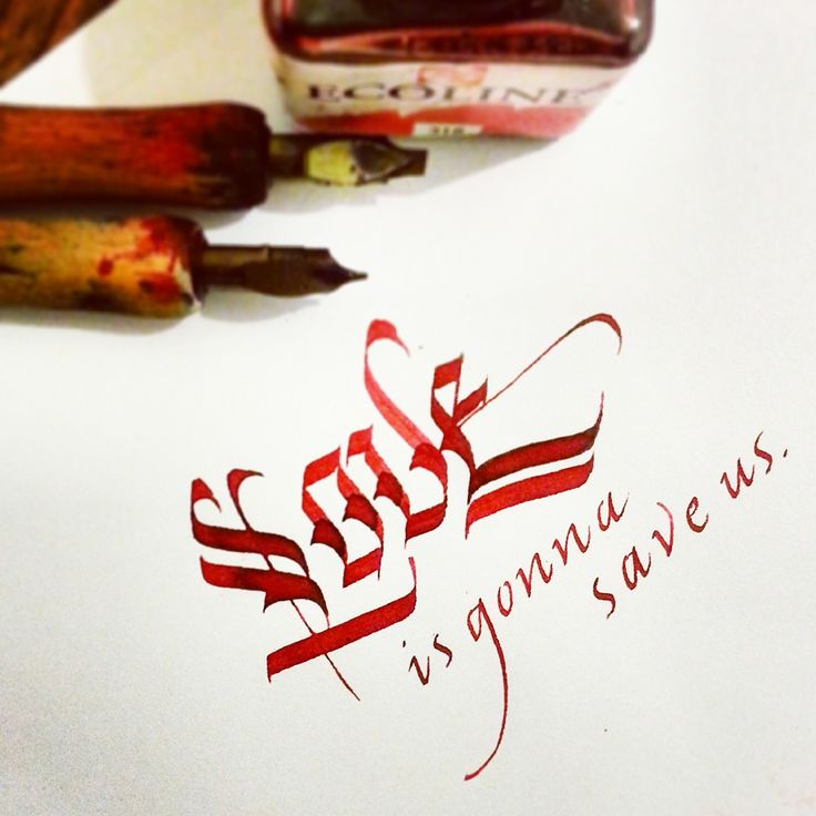 Gothic Calligraphy&Lettering on Behance