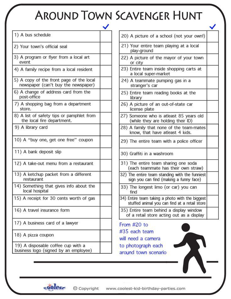 Free Printable Scavenger Hunt | Previous Printable Next Printable: