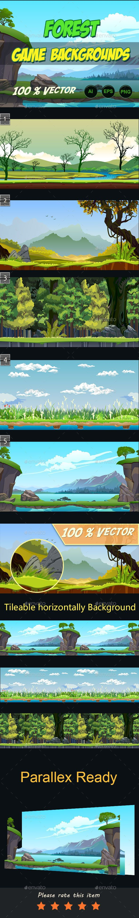 5 Forest Game Background Download here: https://graphicriver.net/item/5-forest-game-background/13467912?ref=KlitVogli
