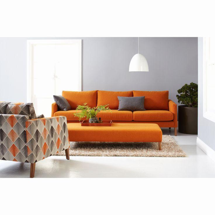 Die besten 25+ Oranges sofa Ideen auf Pinterest Orange - wohnzimmer orange weis
