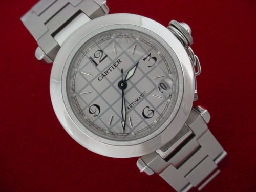 Cartier pasha Watch W/box Beautiful Cartier Pasha Watch Automatic Unisex 35mm