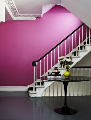 Moreton Pinkney paint from Albany. See the blog at www.yasminchopin.com for more on how to use #Pantone 2014 Radiant Orchid in the home.