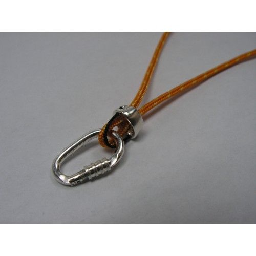 #Climbing #Locking #Carabiner and Tube #Belaying Device Necklace