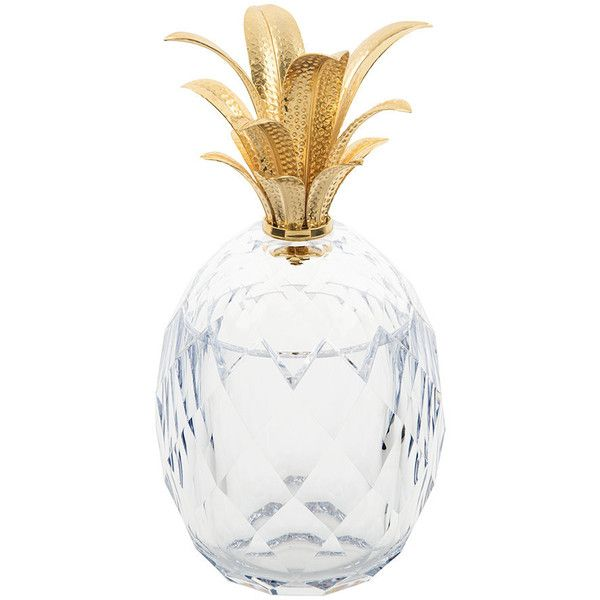 Mario Luca Giusti Pineapple Acrylic Ice Bucket - Clear/Gold (1 000 BGN) ❤ liked on Polyvore featuring home, kitchen & dining, bar tools, clear, acrylic champagne bucket, acrylic wine chiller, acrylic wine bucket, pineapple ice bucket and gold ice bucket