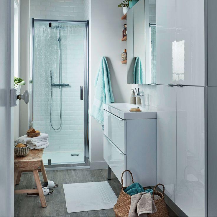 ensemble de salle de bains suspendre imandra blanc 80 cm meuble sous vasque plan nira. Black Bedroom Furniture Sets. Home Design Ideas