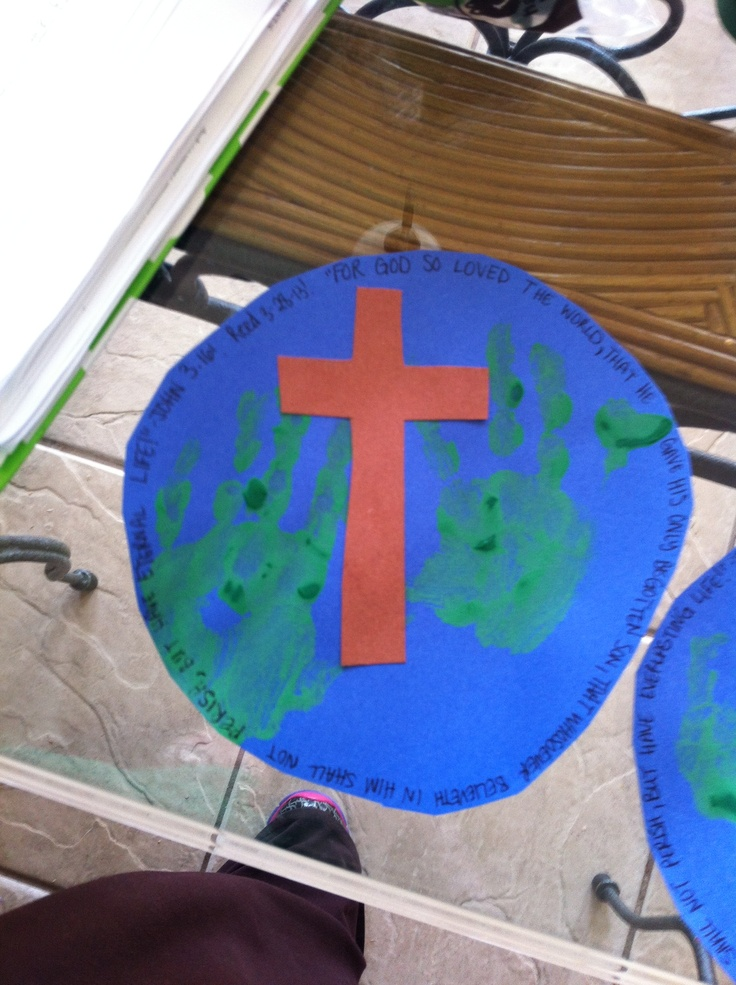 Reed's Earth John 3:16 craft! | Children's Ministry ...