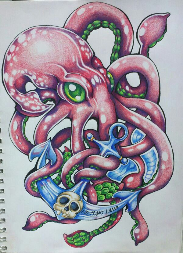 next one. squid with an anchor.
