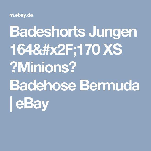 Badeshorts Jungen 164/170 XS ☆Minions☆ Badehose Bermuda    eBay