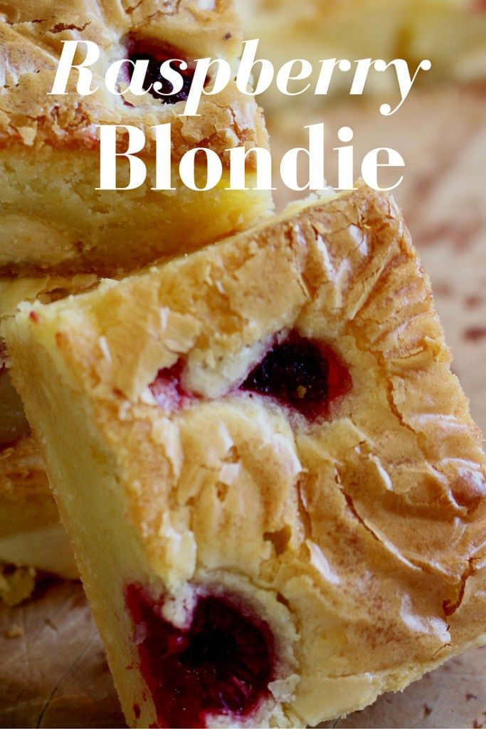 Raspberry Blondie, its so amazing it just melts in your mouth. Check out the recipe!