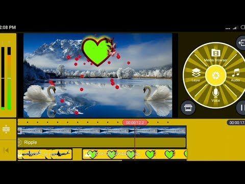 Wedding video frame edit with kinemaster   Shaadi green
