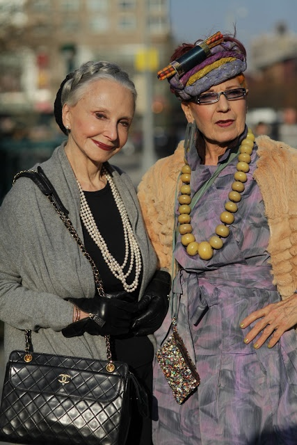 ADVANCED STYLE, How fabulous is this photo....I love it so much, having fun with your clothing will keep you young at any age!!! A Truly wonderful photo.