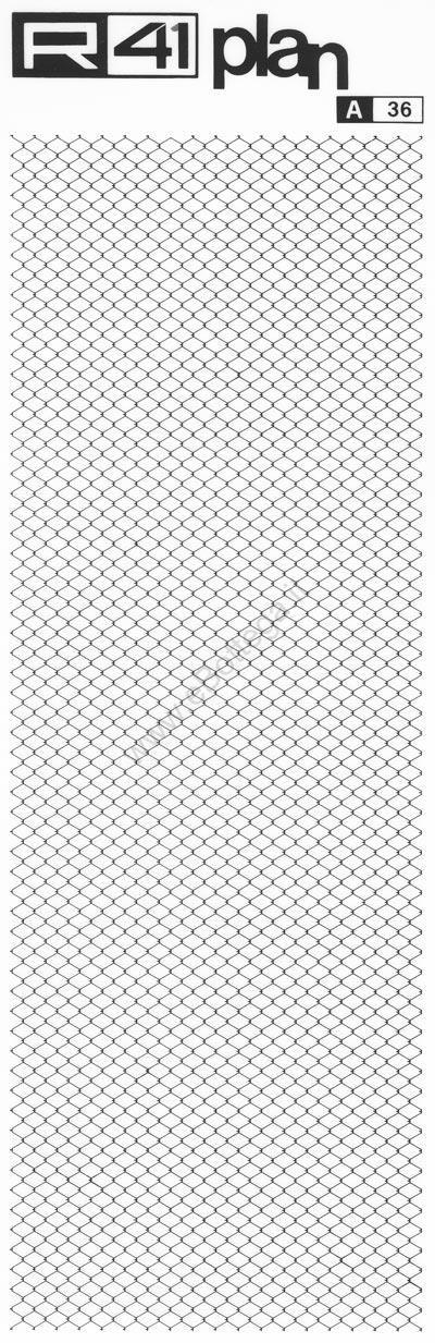 trasferibilir41 Trame tetti 1:100, NERO. Trasferelli-Trasferibili R41 in fogli 9x25cm. p. 1418 .