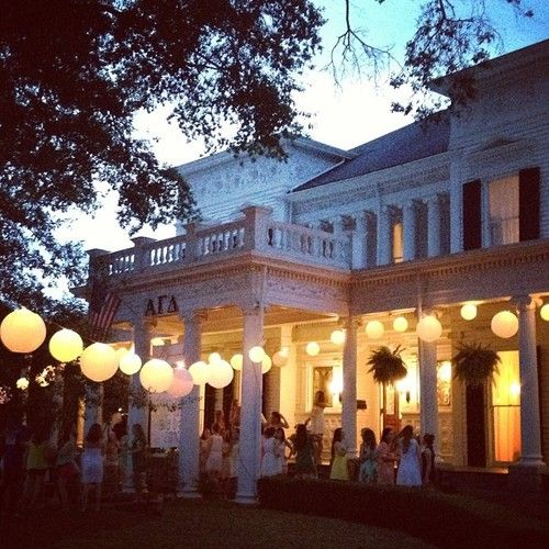 Gorgeous home , love the backyard party lights .
