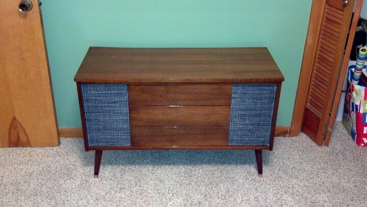 Vintage stereo console turned into storage chest. | Upcycled ...