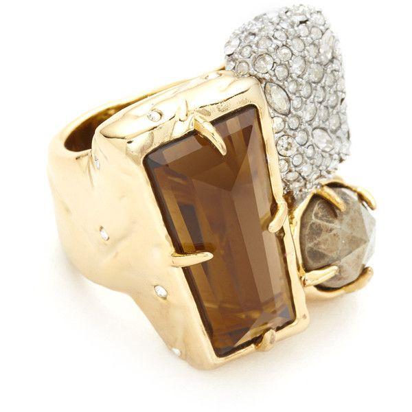 Shop Alexis Bittar Quartz Ring in Quartz Multi at Modalist |... (11,425 INR) via Polyvore featuring jewelry and rings