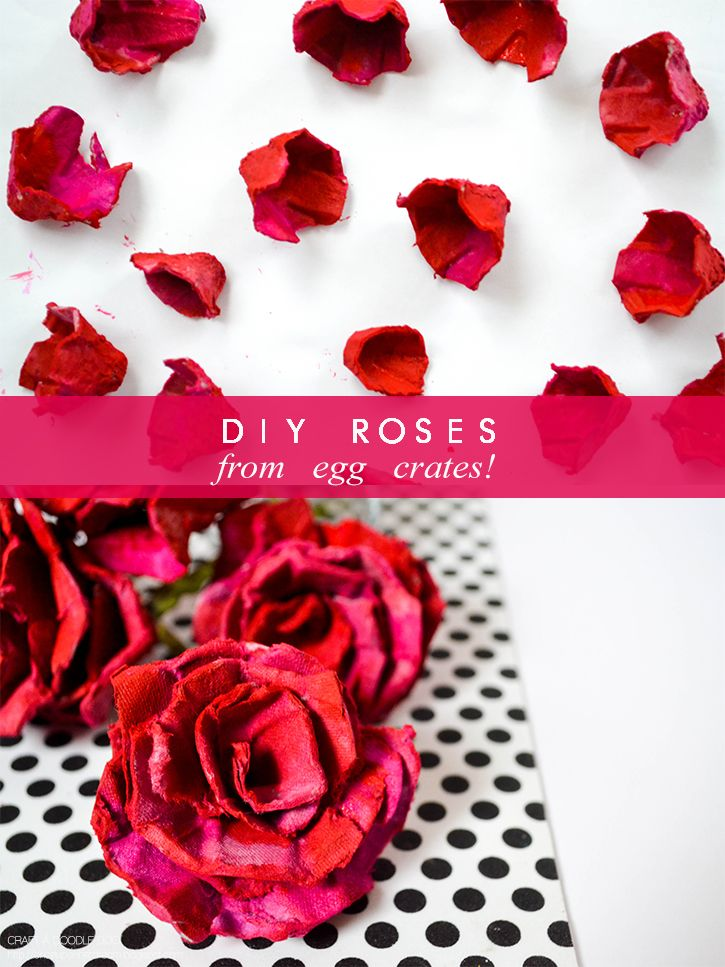 DIY Roses from Egg Crates at Once Upon a  Dream