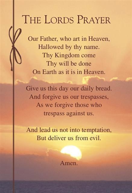 The Lords Prayer Worth Reading Pinterest