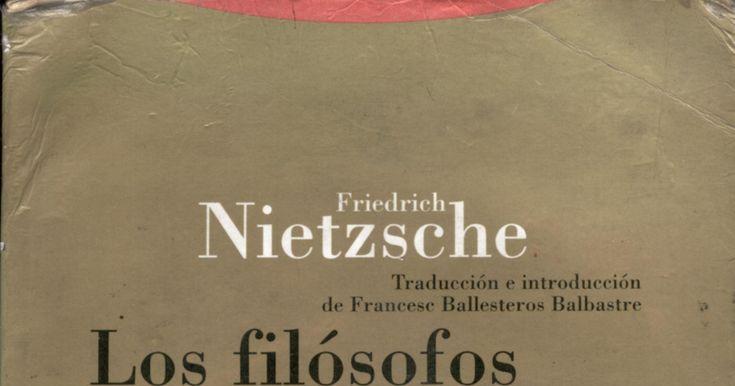 NIETZSCHE. Los filósofos preplatónicos..pdf