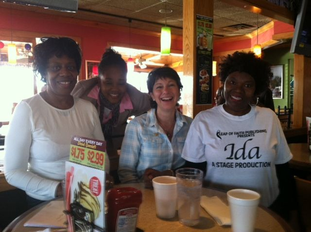 """Me and happy """"Ida"""" fans at a fundraiser breakfast, hosted by Applebee's....."""