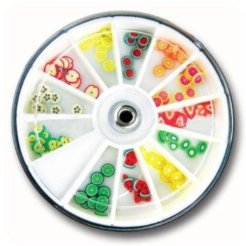 Fruit Slice Nail Deco x 120pcs CODE: #132: Amazon.co.uk: Beauty   -   I'll tell you the problem with this sort of decoration, is unless you have big nails that are pretty flat, these can look like they are peeling off, because they are quite large and your nail naturally curves they don't stick flat - well not on my nails anyway. Anybody got any tricks??? x x x