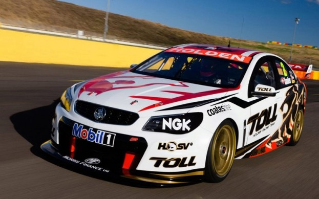 Australia's Holden Racing Team revealed its new VF Commodore-based racing car, which will campaign in the V8 Supercars race series. It is closely based on a real Holden VF Commodore sedan that customers can buy — and thus once again previews the 2014 Chevrolet SS debuting this weekend. -Automobile Magazine 2013