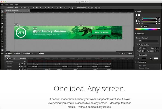 Google Unveils Web Designer in Beta, A Graphical Tool For Building Interactive HTML5 Ads and Campaigns