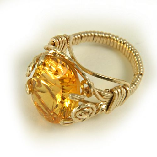 Wire Wrapped Ring Tutorials With Prong Set Faceted