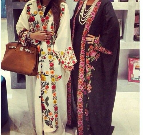 Floral open abayas