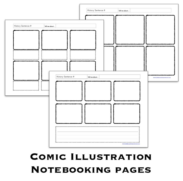 Comic Illustration Pages {Free Notebooking Printables