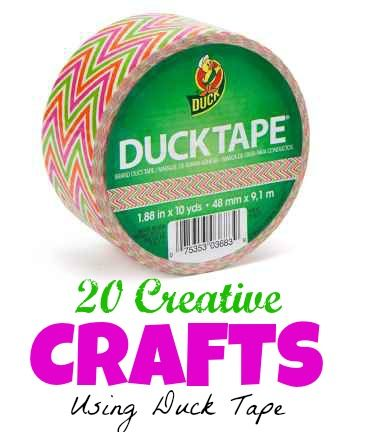 (a pinner said)Everyone is making things using Duct Tape! Kids especially seem to love it. Here are 20 Crafts Using Duct Tape!