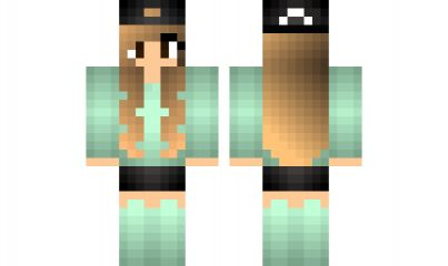 minecraft skin Cool-Girl-Skin Find it with our new Android Minecraft Skins App: https://play.google.com/store/apps/details?id=studio.kactus.girlskins