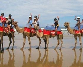 Family holiday fun during School holidays. Camel rides on the beach!  http://www.ozehols.com.au/holiday-accommodation/new-south-wales/coffs-harbour-area/coffs-harbour  #coffsharbour #northcoast #CoffsHarbourHolidays