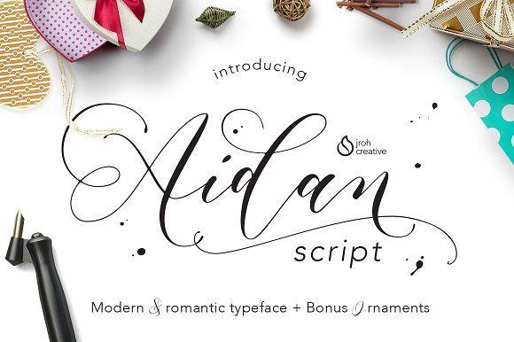 Aidan Romantic Script by JROH Creative on @creativemarket