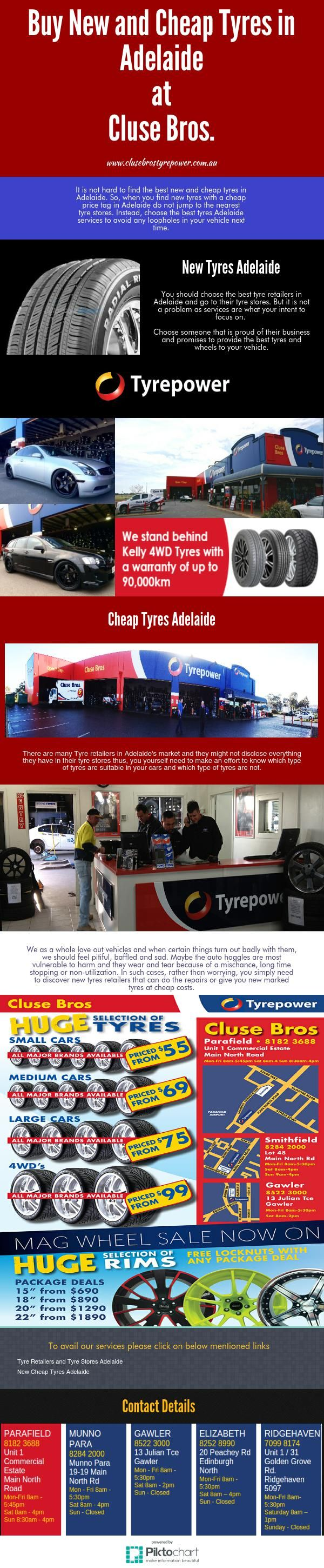 Please Visit: http://www.clusebrostyrepower.com.au/cheap-tyres-adelaide