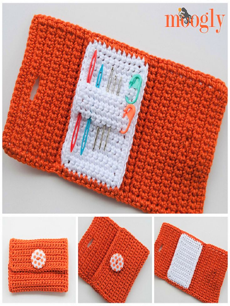 Crochet this Nifty Needle Case by Moogly!
