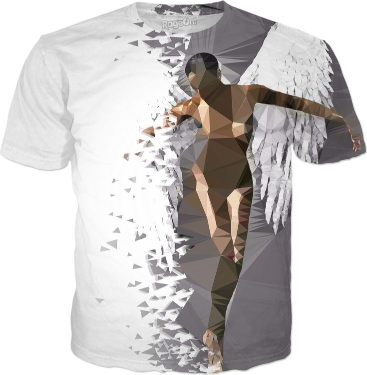 Broken Angel, polygon art tee shirt design, sexy nude girl erotic. (hot girl, sexy blonde, kinky amateur, woman nude, full frontal nudity, nudism, sexy polish b