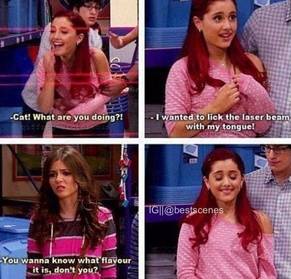 What's really sad is that my friends are like the ppl on Victorious and I'm Cat…