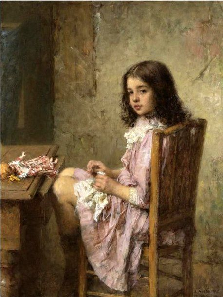 Alexey Harlamoff - Little Seamstress