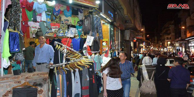 Homs Markets Are Busy During Holy Month Of Ramadan Syrian Arab News Agency Ramadan Arab News Marketing